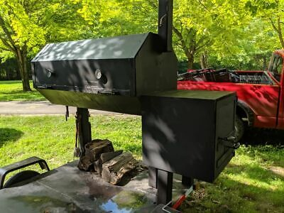 Large Homemade Barbecue Smoker Trailer Used Mobile Bbq Unit For Sale In Indian