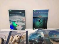 Blue planet ll and frozen planet comes with 4 frozen planet postcards both in excellent condition