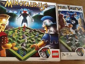 LEGO MINOTAURUS, MINI-TAURUS (brand new unopened) and PIRATE PLANK board games