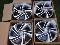 Set of brand new Genuine Nissan Qashqai,x-trial,Juke 17inch alloy wheels