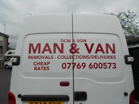 MAN & BIG VAN/CHEAP RATES/FULL N PART REMOVALS/SINGLE ITEMS MOVED/ALL AREAS COVERED