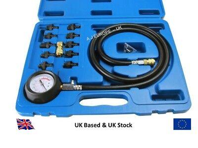 Engine Oil Pressure Test Tester Set Kit Low Oil Warning Devices Car Van LCV Tool