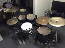 Pearl Vision Birch 5 piece drum kit w/ hardware and cymbals Ashgrove Brisbane North West Preview