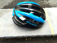 Giro Foray (Large) with MIPS technology in black-blue-white colour