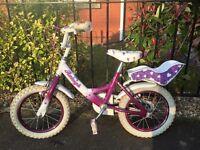 Raleigh girls bike with stabilisers