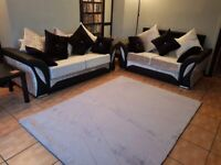 BRAND NEW SHANNON CRUSHED & LEATHER 3+2+ARMCHAIR OR CORNER SOFA