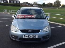 Ford Focus CMAX Ghia, 2003, 1.8 Petrol. 110000 Miles.