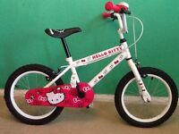 HELLO KITTY BMX-style Girl's BIke 16 inch wheels-PERFECT FOR AGE 6-8