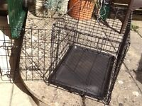 Dog cage or cat cage in metal