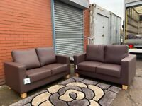 Brand new leather sofas x2 delivery both sofas £175 bargain
