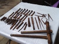 Old ship repairing tools