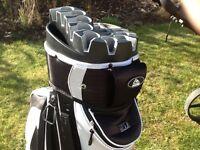 Big max golf trolley and long ridge golf bag
