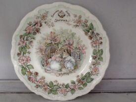 Brambly Hedge tea plate