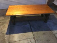 6 foot solid oak coffee table
