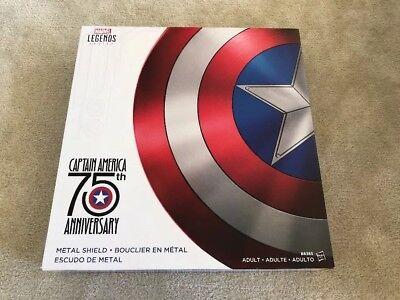 Marvel Legends Series Captain America 75th Anniversary Metal Shield New!