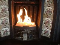 Gas fire, working perfectly, regular servicing, £70