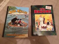 Brand new unwanted Christmas gift oor wullie and the broons annuals