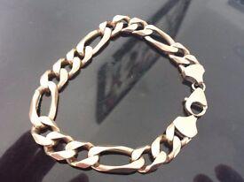9ct gold man's figaro bracelet