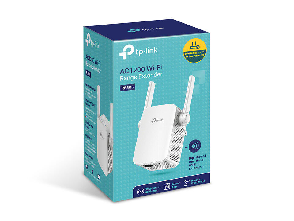 TP-Link AC1200 Dual Band WiFi Range Extender, Repeater, Acce