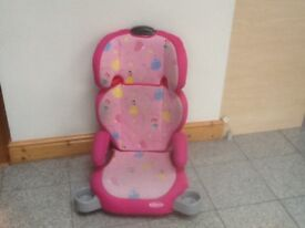 Graco Group 2 3 full highback 2piece booster car seat for 4yrs to 12yrs(15kg to 36kg)-washed&cleaned