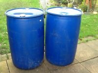 Water butts drums barrels