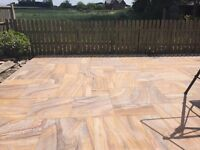 Rainbow Indian Sandstone 21m2 Pack - £450 delivered - smooth sawn