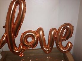 LOVE ROSE GOLD BALLOON
