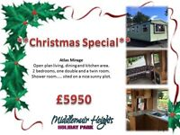 Static Caravan...* *SUPERB BUY**... park open all year... Middlemuir, Near all local towns...MUST GO