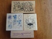 A selection of celebrations rubber stamps