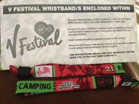 **tickets in hand** 2 V Festival Weekend Camping at Hylands Park.