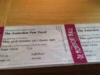 Australian Pink Floyd tickets for sale