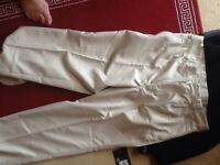 Trousers and fleece top