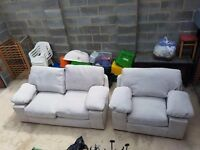 Large dralon 2 seater and chair