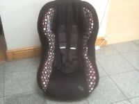 Lightweight group 1 car seat for 9kg upto 18kg(for 9mths -4yrs)reclines,is washed and cleaned-£30