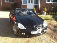 2005 Mercedes SLK350 in Black with AMG and Brabus extras, Only 43200 miles, Long Mot