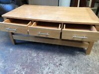Coffee table living room chill out area 3 draw storage
