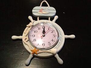 Ship Wheel Clock- Rope Hook