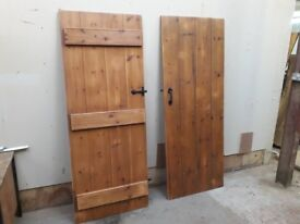 internal pine 4 plank and ledge door/danish oiled