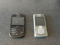 Blackberry mobile phones x2