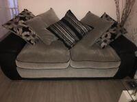 Grey Sofa and swivel / twister chair