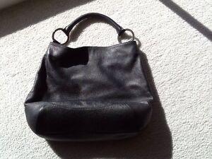 Oroton black leather bag Echuca Campaspe Area Preview