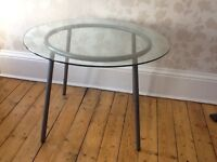 Ikea round glass kitchen/dining table