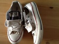 Converse double tongue trainers size 4