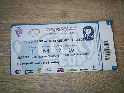 Ticket Finale Coupe de Belgique : Standard de Liège - KRC Genk 2018