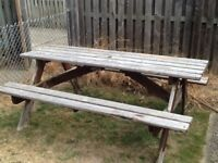 FREE wooden garden table/bench