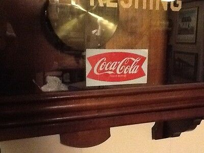 Coca-Cola Fishtail Window Decal Rare & Mint condition 1950's