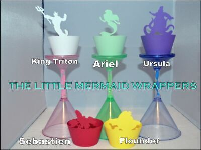 LITTLE MERMAID THEME PARTY CUPCAKE WRAPPERS x12  MANY TO CHOOSE FROM