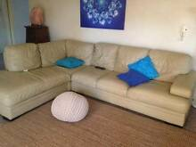 Leather lounge with chaise and separate 2 seater GREAT CONDITION Gymea Sutherland Area Preview