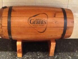 William grants wooden whisky barrel