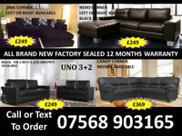 SOFA BEST OFFER BRAND NEW LEATHER SOFAS FAST DELIVERY 94